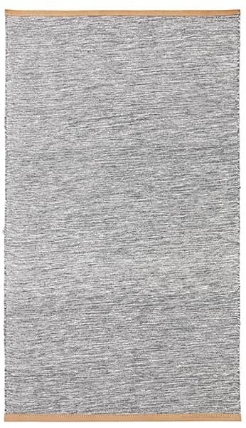 The Björk rugs by Design House Stockholm: wool and cotton, lined with leather, high strength and sweetness of noble materials