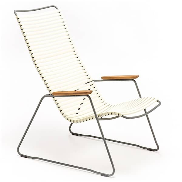 Lounge chair, CLICK SYSTEM, resin and steel, outdoor