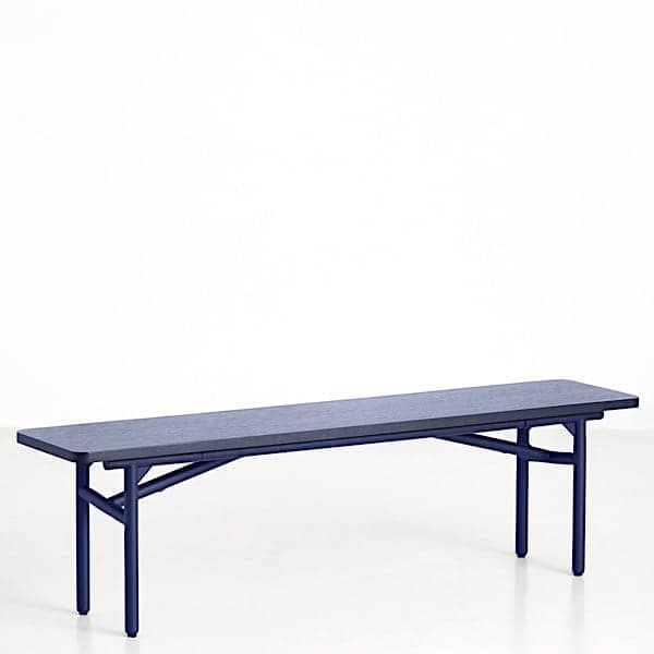 DIAGONALE, a wood and metal bench, a very contemporary and timeless design