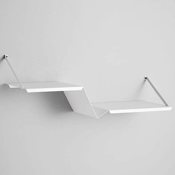 FOLD, powder coated metal shelf. Woud