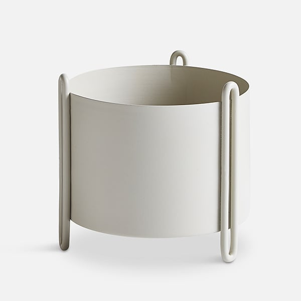 Flower pots PIDESTALL in steel and HINKEN in ceramic, modern and fun