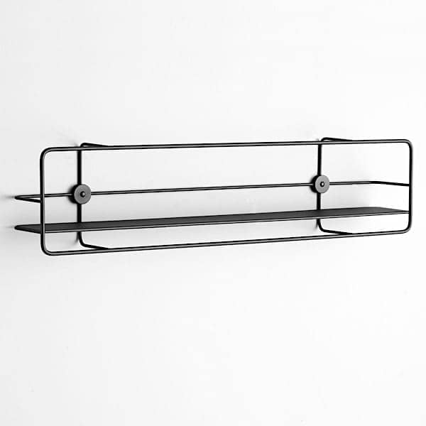 COUPE shelves: black or white steel, for the kitchen, bathroom, bedrooms, office