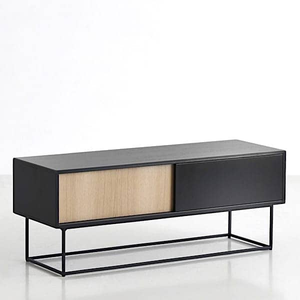 VIRKA, sideboard, TV cabinet, sliding doors
