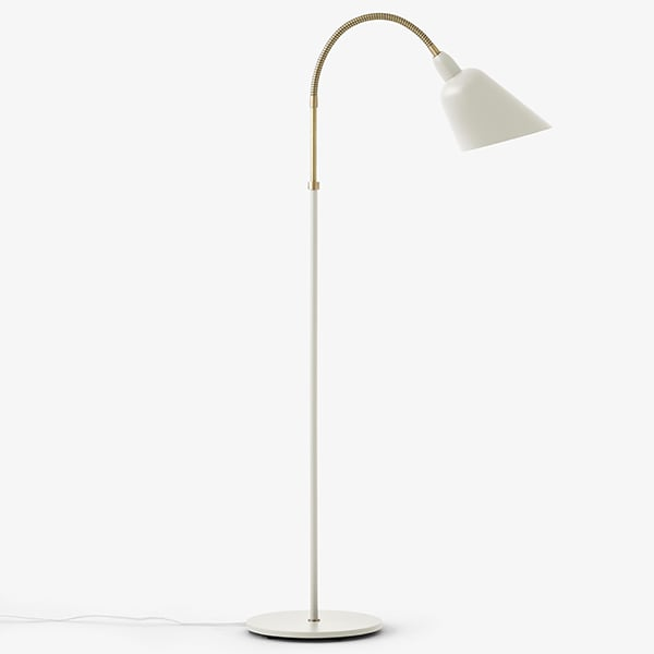 BELLEVUE collection (wall lamp, desk lamp and floor lamp) created by Arne Jacobsen in 1929. Timeless design.