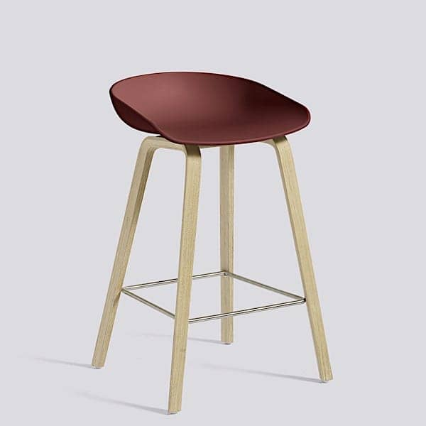 ABOUT A STOOL, bar stool by HAY - ref. AAS32 - Wooden base, polypropylene shell - HEE WELLING and HAY