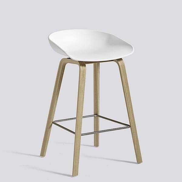 ABOUT A STOOL, stool bar by HAY - ref. AAS32 - Base de madeira, revestimento de polipropileno - HEE WELLING e HAY