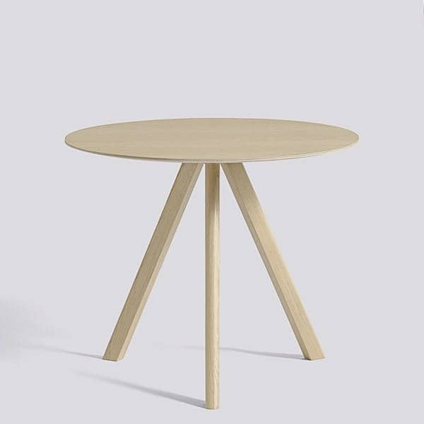 The COPENHAGUE round table CPH20 and CHP25, made in solid wood and plywood, by ronan and erwan bouroullec - deco and design