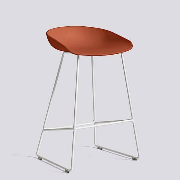 ABOUT A STOOL, stool μπαρ από HAY - ref. AAS38 και AAS38 DUO - Βάση από χάλυβα, κέλυφος πολυπροπυλενίου