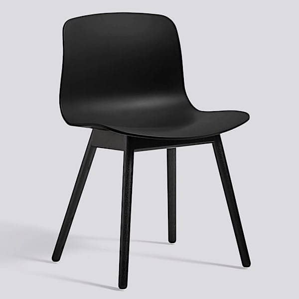 ABOUT A CHAIR - ref. AAC12 and AAC12 DUO - Polypropylene shell, feet in wood, oak or ash