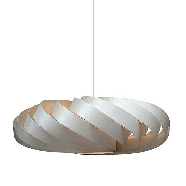 TOM ROSSAU - TR 5 Pendant Light or wall lamp: wood or aluminium slats, and design at their best mix