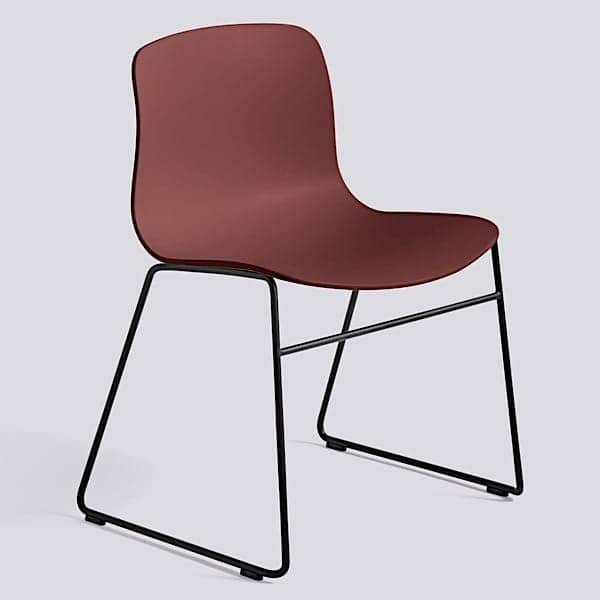ABOUT A CHAIR - ref. AAC08 and AAC08 DUO - Polypropylene shell, feet in lacquered stainless steel - HEE WELLING and HAY