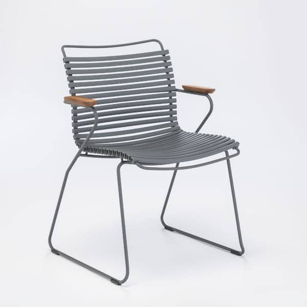 Dining chair, CLICK SYSTEM, resin and steel, outdoor