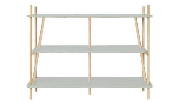 Shelf, bookcase: SIMONE by HARTO - solid oak and oak plywood