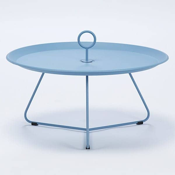 EYELET side tables, in epoxy lacquered steel, by HOUE