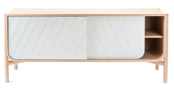 Low sideboard: Marius by Hartô, solid natural oak and MDF veneered oak