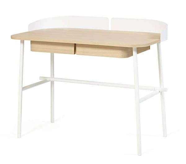 Victor Desk by Hartô, Oak Plate and Metal Feet