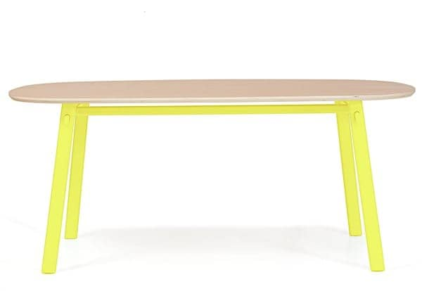 Céleste table by Hartô, solid oak and steel structure