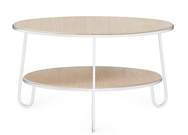 Coffee table Eugénie by Hartô, oak veneer and steel tubes