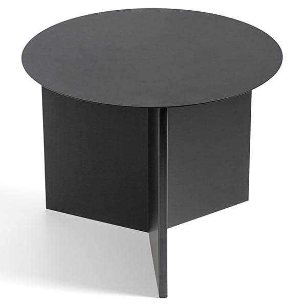 SLIT side tables: round, rectangular and hexagonal. Beautiful colors and materials.
