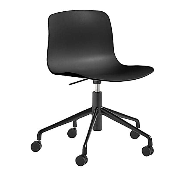 ABOUT A CHAIR - ref. AAC50 and AAC50 DUO - Polypropylene shell, aluminium legs with wheels and with Gas lift system
