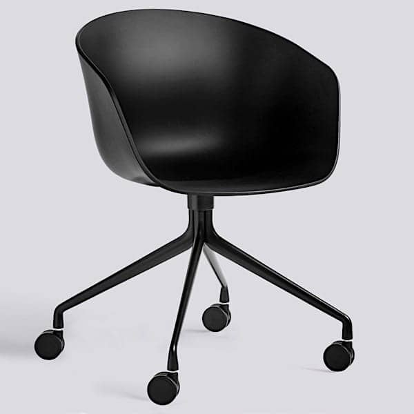 ABOUT A CHAIR - ref. AAC24 - Polypropylene shell, optional fixed cushion, aluminium legs with wheels