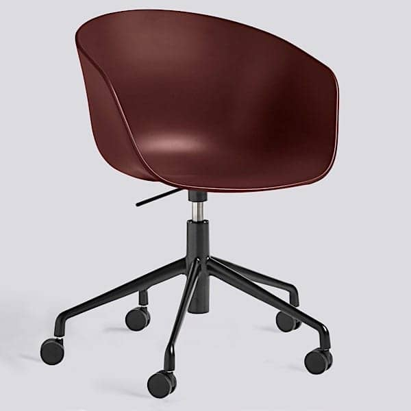 ABOUT A CHAIR - ref. AAC52 - Polypropylene shell, optional fixed cushion, aluminium legs with wheels and with Gas lift system