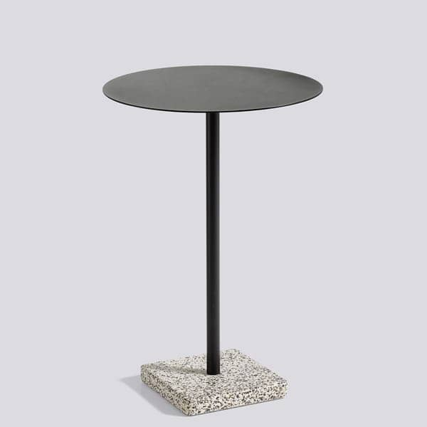 TERRAZZO: square or round table, 3 heights available, multiple finishes, by HAY