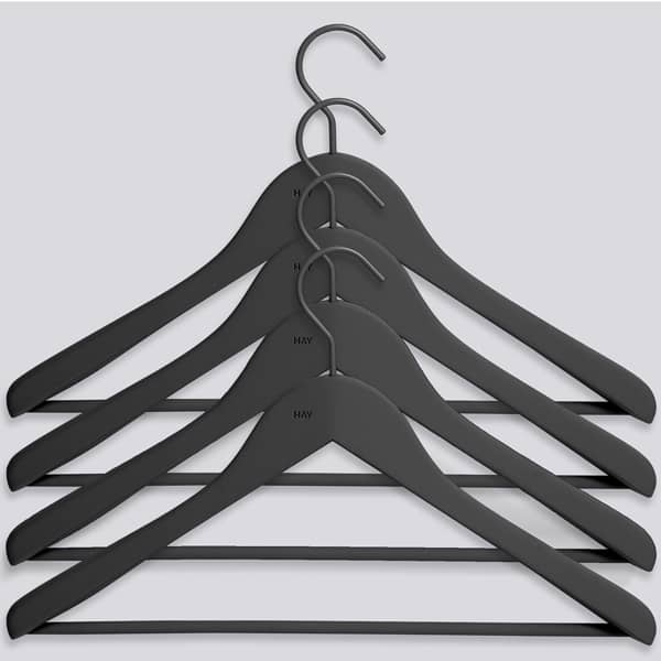 HAY soft coat hangers (box of 4 pcs), for LOOP Stand: the final design touch