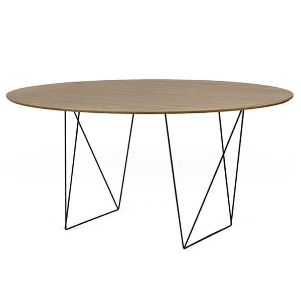 ROW round dining tables, elegant and modern. TEMAHOME
