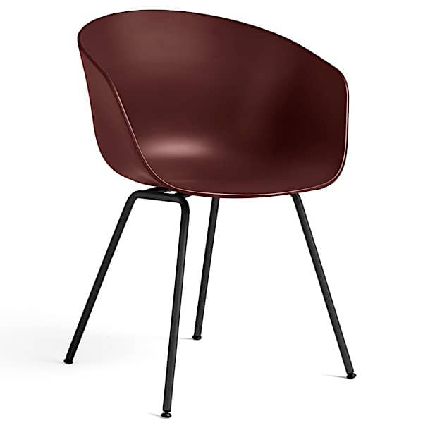 ABOUT A CHAIR - ref. AAC26 and AAC26 DUO - Polypropylene shell, bent steel tube legs - HAY