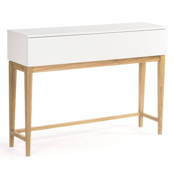 BLANCO Console Table - FSC solid Oak and white painted wood, great line and quality!