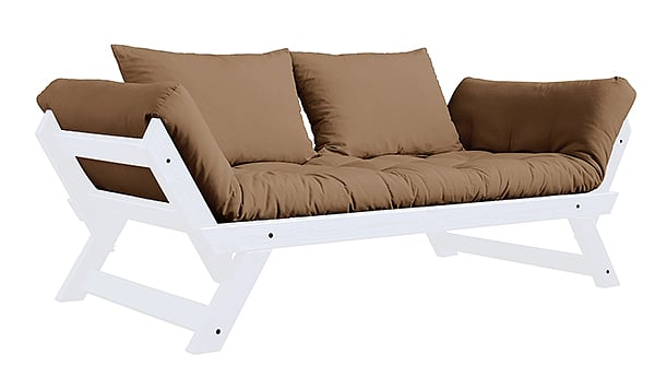 ALULA, a comfortable sofa, chaise longue, convertible in extra bed - including futon and 2 cushions