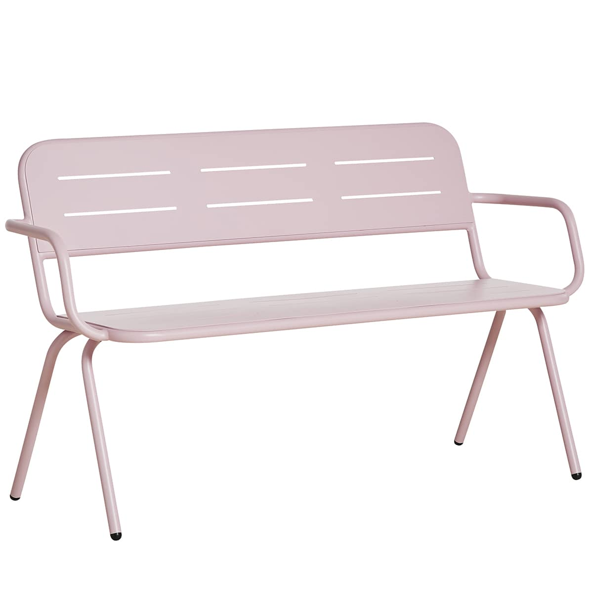 RAY outdoor bench with armrests, designed by WOUD