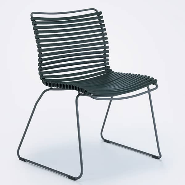 Dining chair, CLICK SYSTEM, without armrests, resin and steel, outdoor