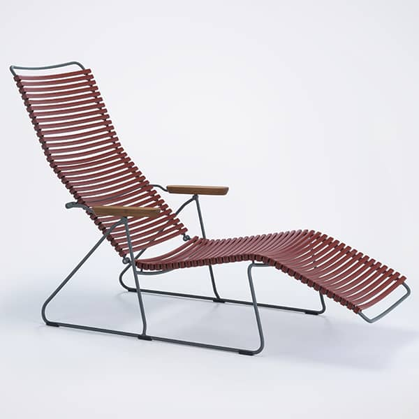 Sun lounge chair, CLICK SYSTEM, resin and steel, outdoor