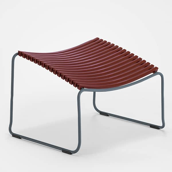 Footrest, CLICK SYSTEM, resin and steel, outdoor