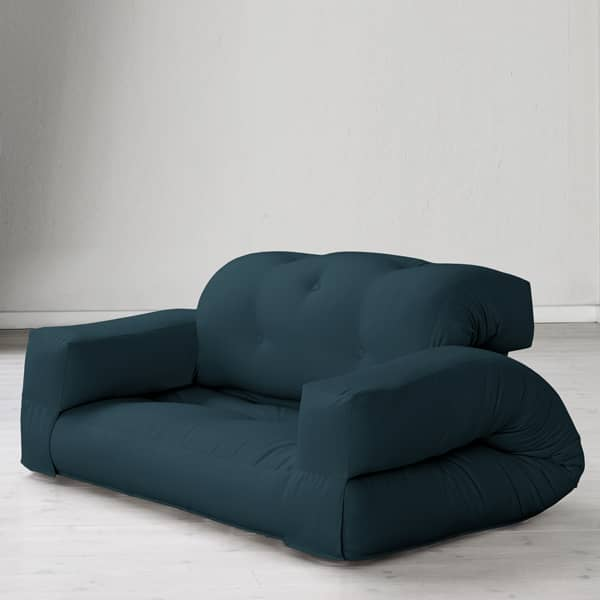 HIPPO, an armchair or a sofa, that turns into a comfortable extra futon bed in seconds