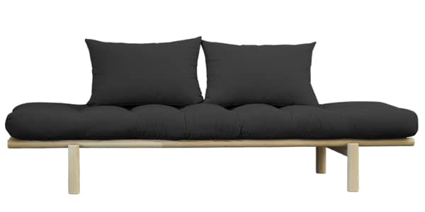 PACE: daybed and chaise longue convertible into extra bed - including futon and two cushions