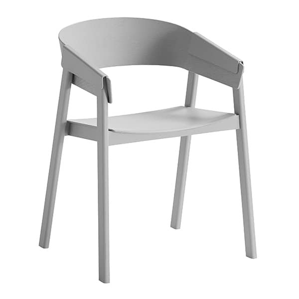 Poltrona scandinava in legno COVER CHAIR, di MUUTO
