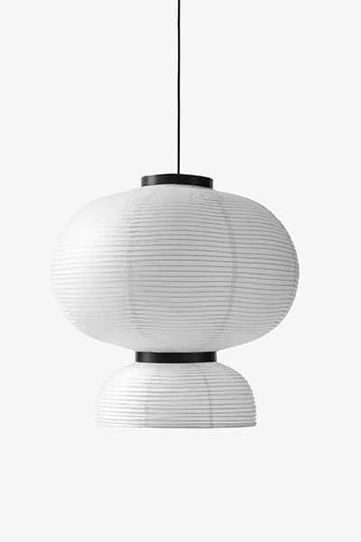 FORMAKAMI handmade lamps collection, ivory white paper, black stained oak - AndTradition