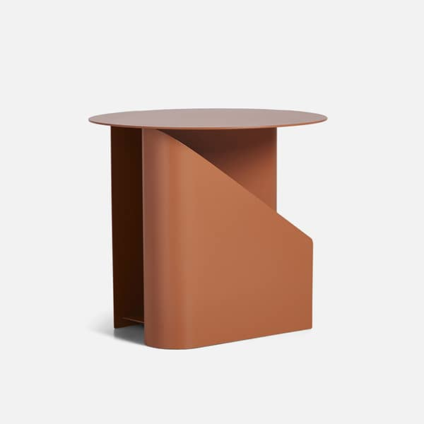 SENTRUM side table, design and geometric. WOUD