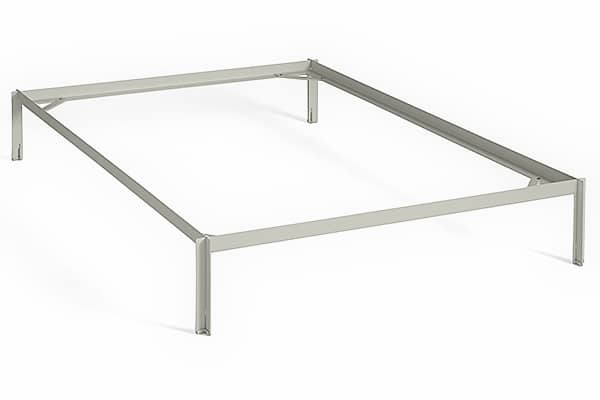 CONNECT bed: steel structure, high technology and minimalist design.