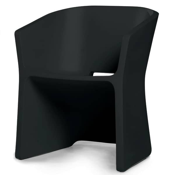 THE SLICED CHAIR, con il suo profilo curvo, va facilmente da interni agli esterni - deco e del design, QUI EST PAUL