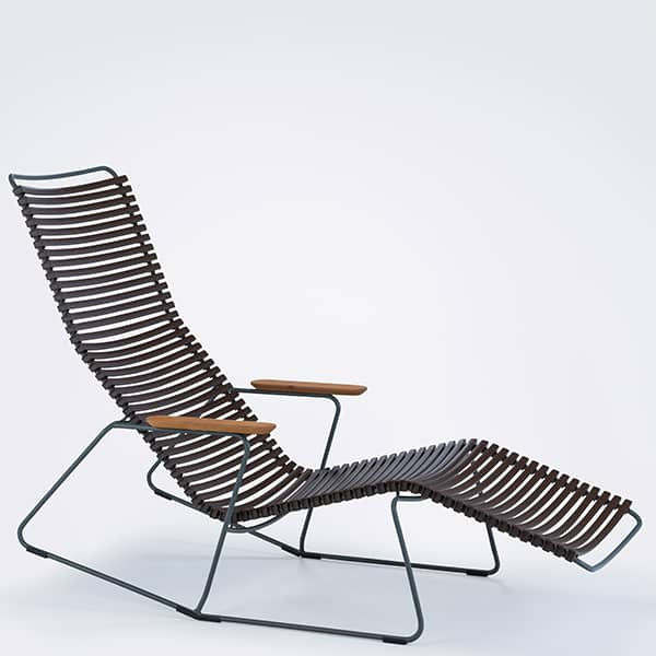 Rocking chair lounge chair, CLICK SYSTEM, resin and steel, outdoor