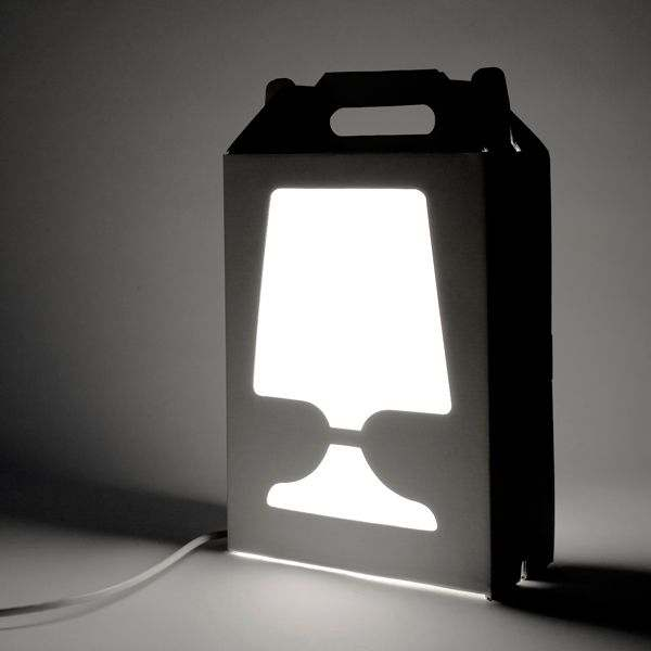 FLAMP - desk, bedside lamp - easy to move - a light reference