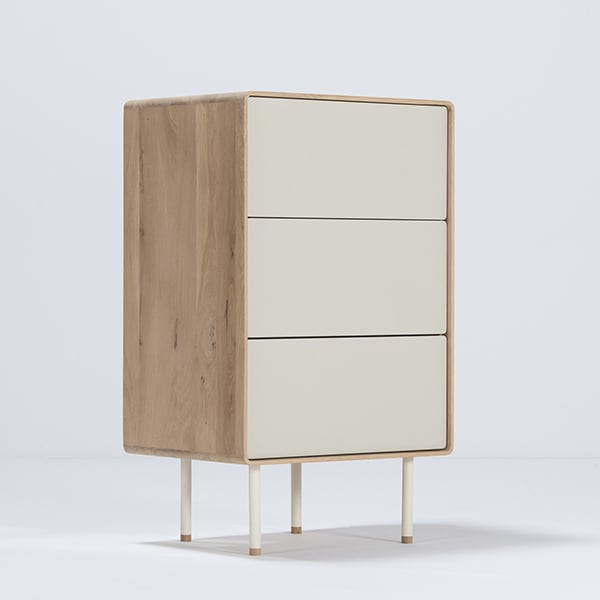 FINA, range of furniture in solid oak and linoleum, by GAZZDA