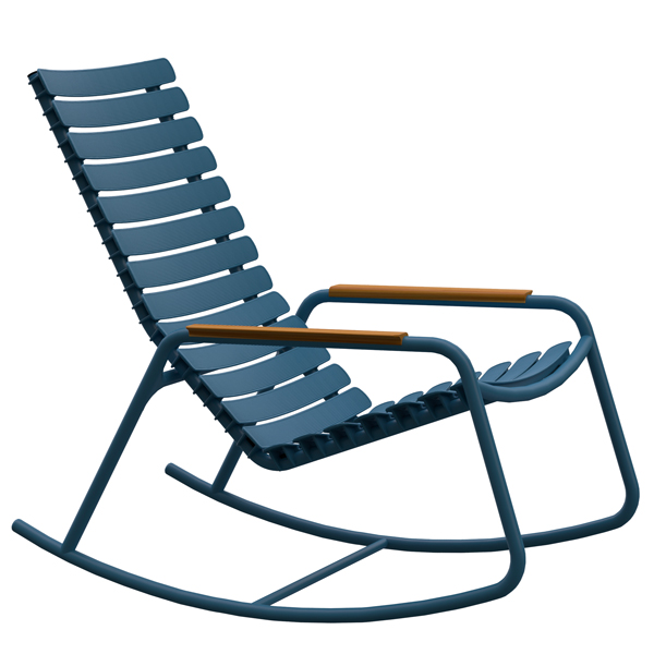 Fauteuils outdoor RE-CLIPS rocking chair, avec accoudoirs, par HOUE