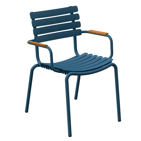 Chaise outdoor RE-CLIPS avec accoudoirs, par HOUE