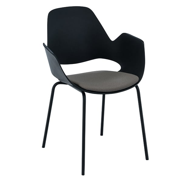 FALK, an astonishing chair with armrests, made with recycled materials. HOUE