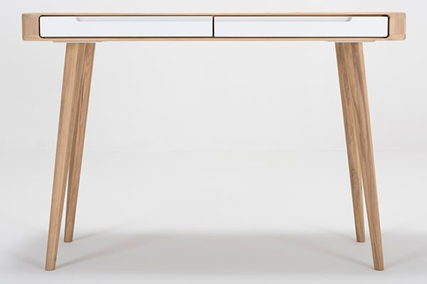 ENA, dressing table in solid oak with drawers, by GAZZDA
